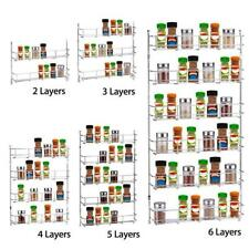 Spice Herb Jar Rack Holder For Kitchen Door Cupborad Storage Wall 3 4 5 6 Tier