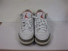 Nike Air Jordan 3 III Retro 2011 White Black Cement 136064-105 Size 9