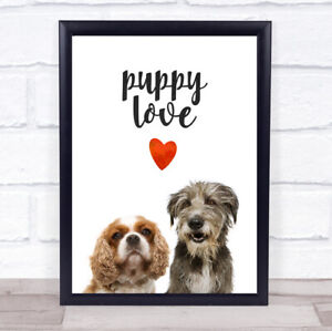 Lady And The Tramp Puppy Love Decorative Wall Art Print