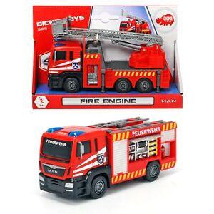 Dickie Toys MAN Fire Engine Feuerwehr Kinder Spielzeug Auto SOS Feuerwehrauto