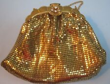 Vintage Mesh Evening Bag Purse Rhinestone Clasp