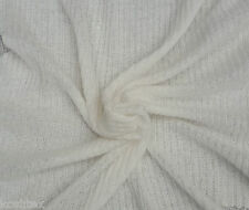 "Wool Blend 2x4 Rib Sweater Knit Fabric by Yard Ivory #1 61""W 7/15"