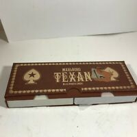 Vintage Playing Cards Double Deck MARLBORO Texan Poker No 45 Texas Star
