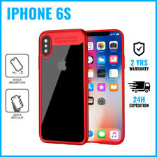 Focus Armor Cover Cas Coque Etui Silicone Hoesje Case Black For iPhone 6S Red