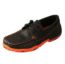 NEW Never Worn Ladies Twisted X Driving Moccasin Black and Orange Size 6.5M