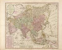MAP ANTIQUE BOWLES 1791 ASIA OLD HISTORIC LARGE REPLICA POSTER PRINT PAM0717