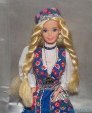 1995 Barbie Corredo Dotw Norvegese Norvegia Bambola Superstar Biondo W/Completo