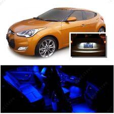 For Hyundai Veloster 2011+ Blue LED Interior Kit + Xenon White License Light LED