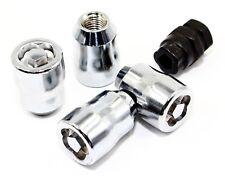 4 Chrome Acorn Puzzle Socket Wheel Locks 12x1.5 Toyota 4Runner Tacoma Rav4