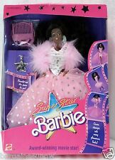 "Glamorous 1988 ""Super Star Barbie"" DOLL #1604 NIB Movie Star AA African American"