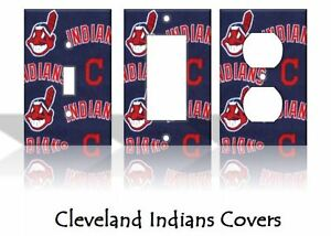 Cleveland Indians #2 Light Switch Covers Baseball MLB Home Decor Outlet
