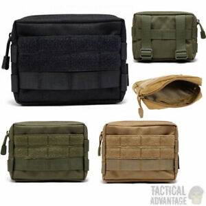 Molle Waterproof Tactical Utility Tool Admin Belt Pouch Army Airsoft Webbing UK
