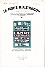 Revue FANNY Marcel Pagnol 1934 Harry Baur Orane Demazis Charpin berval