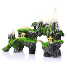 Mountain View Aquarium Rock Cave Tree Pavilion Fish Tank Ornament Decoration