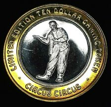 """CIRCUS CIRCUS LIMITED EDITION $10 .999 FINE SILVER STRIKE - """"THIS WAY"""" CLOWN"""