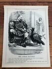 """1914 cartoon print """" the great illusion """" kaiser and the german eagle !"""