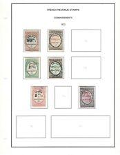 """France Revenues Stamps """"Connaissements"""" on Excellent Pages"""