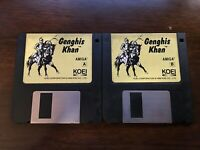 Vintage Genghis Khan for Amiga Video Game by Koei Rare - Good condition disks