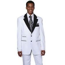 Men's 2Pc 100% Poplin Dacron Fashion Suit Two Button Size 38R~56L