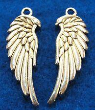 50Pcs. WHOLESALE Tibetan Silver ANGEL Wing Earring Drops Charms Pendants Q0219