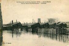 Carte SAINT DENIS Crue Seine Janvier 1910 Usine Delaunay Belleville L'Union