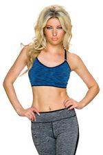 Abbigliamento sportivo da donna blu in poliammide