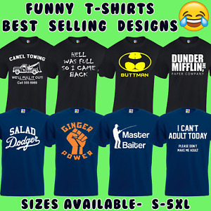 FUNNY MENS T-SHIRTS JOKE NOVELTY TEE TOP RUDE GIFT IDEA FOR HIM DAD S - 5XL