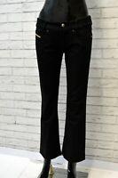 Pantalone Corto Nero Donna DIESEL Taglia Size 29 Pants Woman Jeans a Zampa