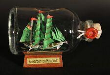 Alexander v. Humboldt Mini Buddelschiff 50 ml 7,2x4,5 cm original Flaschenschiff