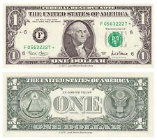 Stati UNITI USA 1 DOLLARO 2001 SERIE F (ATLANTA) Star sostituzione UNC