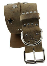 WESTERN SPEICHER Hundehalsband Leder Indi04 Braun Größe 47cm - 53cm