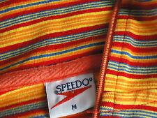 SPEEDO StripedStretchFrontZipRashShortSleevedTopSizeM