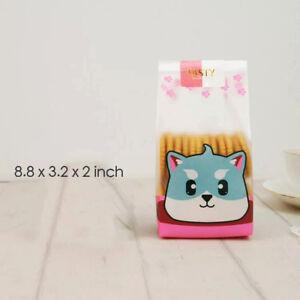 "Cute Cat Plastic Bags Cookie Candy Macaron Gift Bags 8.8""x3.2""x2"" (100pcs / set)"