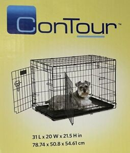ConTour by MidWest Homes for Pets Two Door Folding Dog Pet Crate with Divider