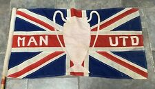 Vintage Manchester United Flag - Union Jack - European Cup Winners Football