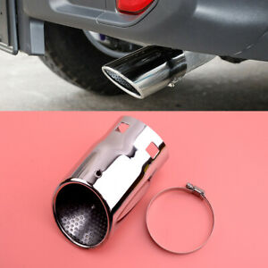 Tail Exhaust Pipe Tip Fit For Jeep Wrangler JK JL 2007-2020 Compass 17/18/19/20