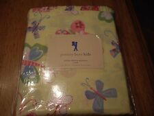 NWT Pottery Barn Sophie 3pc Twin Sheet Set Yellow Butterflies Ruffle Girls TWINS