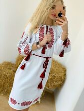 BESTSELLER  Ukrainian HANDMADE Embroidered Dress Vyshyvanka