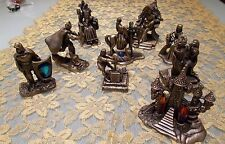 FANTASY & LEGEND ~ PEWTER & CRYSTAL CAMELOT FIGURES ~ 9 ITEMS ~ EX CONDITION