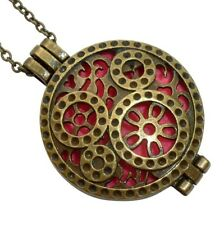 Essential Oil Diffuser Necklace perfume aromatherapy locket 4 pads watch charms