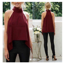 Terno Red Top And Black Pants  (04)