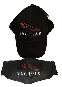 Unisex Baseball Cap with Embroidered Jaguar Car Logo And Face Mask