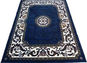 "6x8 Area Rug Floral Carpet Home Decor Floor mat Berber, Navy Blue (5'2 x 7'2"")"