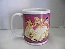 Disney Princesses Coffee Mug Glow w/ Beauty Belle Cinderella Aerial Snow White