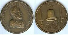 Médaille de table - HENRI II 1552 libertas vin dex italic AE. et germanicae