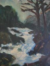 Horvath Impressionist Oil Winter Landscape With A Rushing River Hungarian?