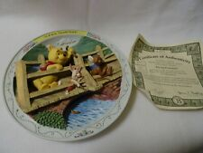 "Disney Bradford Exchange Winnie The Pooh ""Playing Poohsticks"" Collectible Plate"