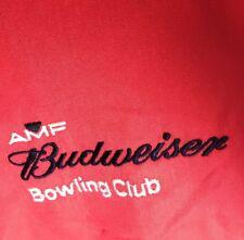 AMF Budweiser Bowling Club Shirt Mens Large Red NXT