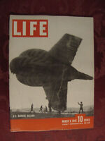 LIFE magazine March 9 1942 WWII Barrage Balloon Joan Fontaine Maine Machine Guns