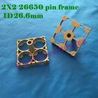 2X2 pole rod bracket 26650 Li-ion LiFeO4 battery holder frame slice pack fix DIY